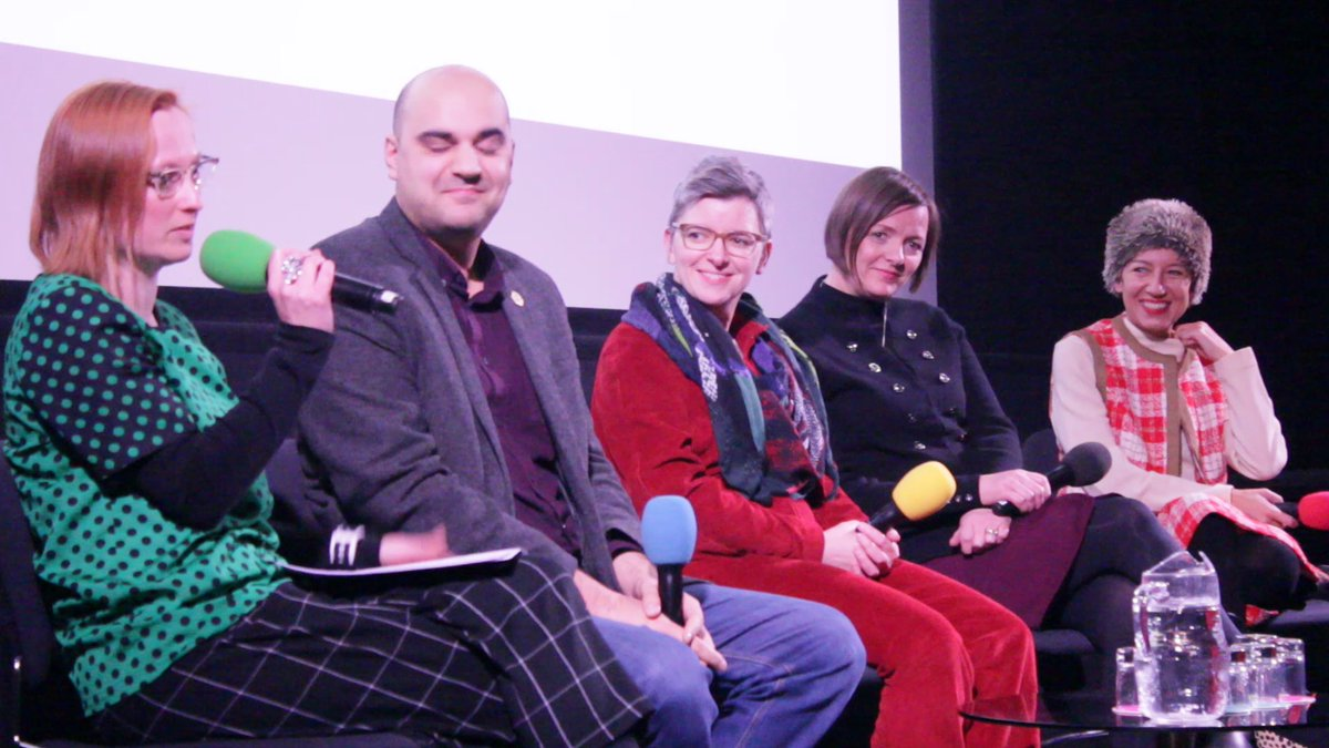 Alys on panel at Barbican, 2017